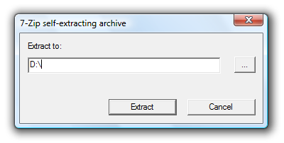 7-Zip self-extracting archive