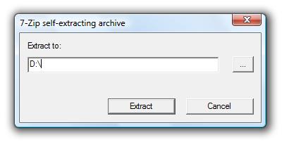 7-Zip self-extracting archive
